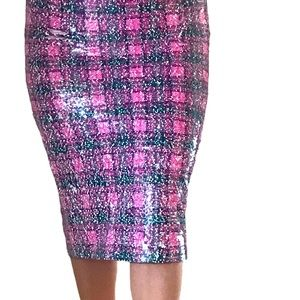 Uterque skirt size XS  color pink, white, green